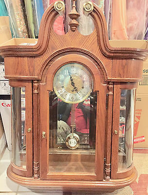 Vintage Ridgeway clock made of mahogany nice and clean condition very heavy
