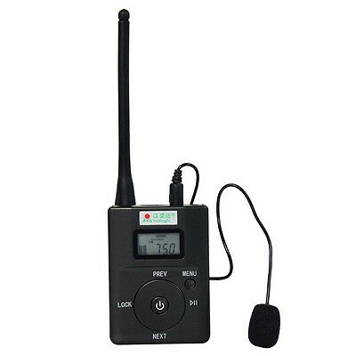 Portable FM Transmitter Stereo Radio Broadcast Adjustable Frequency 60-108 MHz