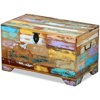 Storage Chest Coffee Side Couch Table Living Room Solid Reclaimed Recycled Wood