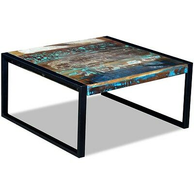 Coffee Table Desk Stand Solid Reclaimed Recycled Wood 80x80x40 cm Living Room