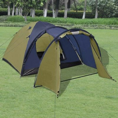 4-person Outdoor Festival Camping Hiking Tent Waterproof with Storage Bag Green