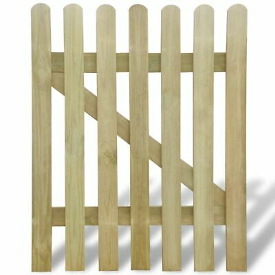 New Wooden Garden Gate 100 x 120 cm Rot-resistant Sturdy Durable Easy Assembly