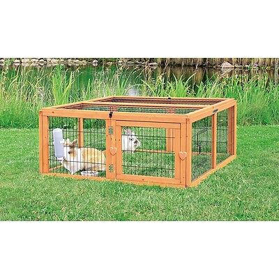 TRIXIE Outdoor Animal Pen Cage Shelter House Roof 116x48x109 cm Natura 62281