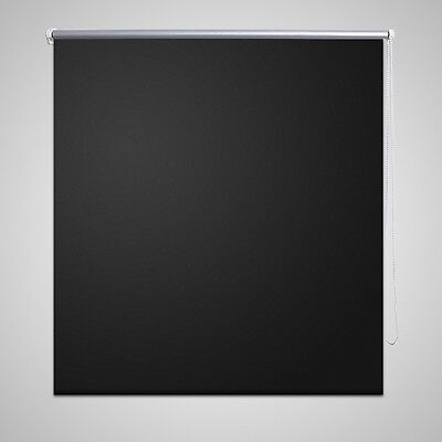 New Quality Roller Blind Blackout Thermal Easy Installation 40 x 100 cm Black