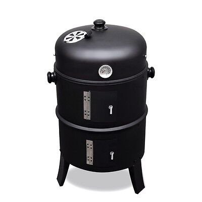 New Bbq Grill Barbecue Wood Coal Smoker