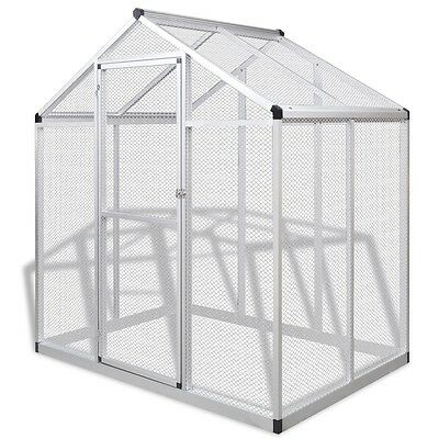 New Outdoor Aluminium Aviary 188 x 122 x 194 cm Iron Wire Mesh Sturdy