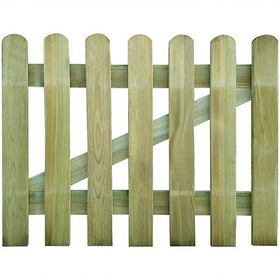 New Wooden Garden Gate 100 x 80 cm Rot-resistant Sturdy Durable Easy Assembly