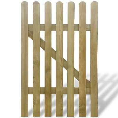 New Wooden Garden Gate100 x 150 cm Rot-resistant Sturdy Durable Easy Assembly