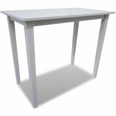 New White Wooden Bar Table 110 x 60 x 90.8 cm (L x W x H) Rubber Hard Wood