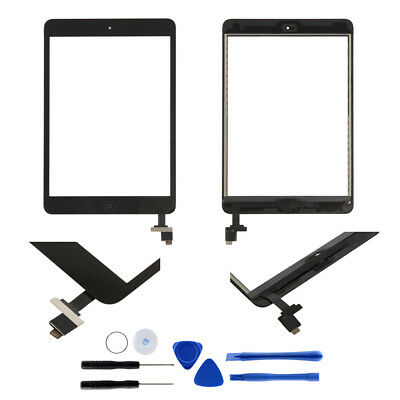 Touch Screen Glass Len Digitizer Replacement with IC chip+Home For iPad mini 1 2