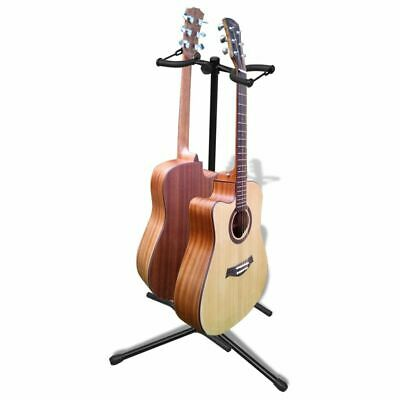 New Durable Telescopic Tripod Double Guitar Bass Floor Stand Adjustable Foldable