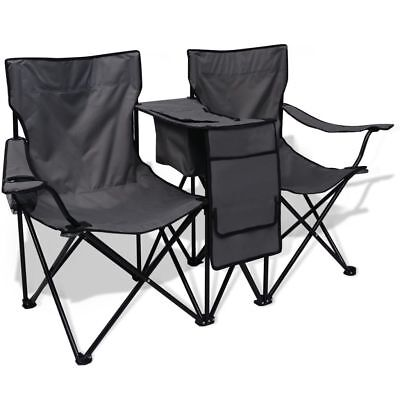 Folding Camping Fishing Double Chair Seat Foldable Beach Garden Outdoor Festival