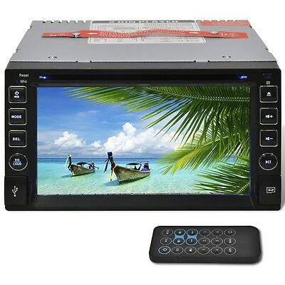 "New Car Stereo 2 DIN DVD Player 6,2"" HD Touchscreen Bluetooth SD USB FM Radio"
