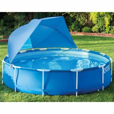 Intex Swimming Pool Canopy Shade Cover UV-resistant with Window Half-dome 28050