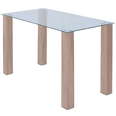 Coffee Table Glass Tabletop Living Room Side Table Transparent 120x60x75 cm