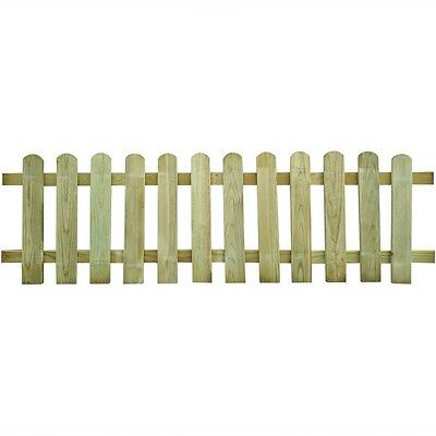 New Wood Picket Fence 200 x 60 cm Supplied in Parts Easy Assembly Rot-resistant