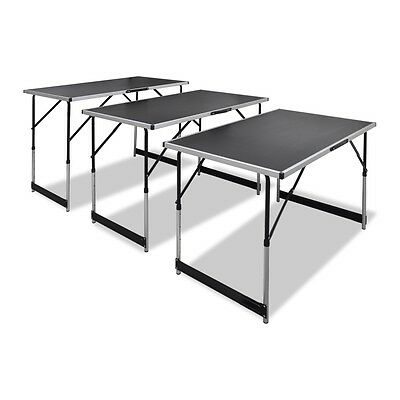 New Foldable Pasting Table Height Adjustable 73/80/87/94 cm 3pcs Black Quality