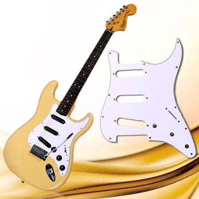 3 Ply PVC Electric Guitar Pickguard Scratch Plate for ST Strat SSS Guitar