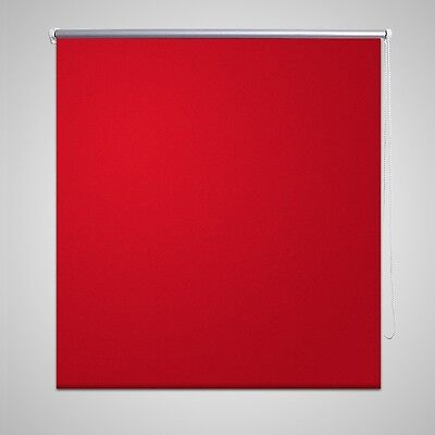 New Quality Roller Blind Blackout Thermal Easy Installation 40 x 100 cm Red