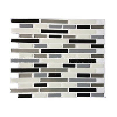3D Tile Mosaic Pattern Wallpaper Modern Wall Background LivingRoom Kitchen W8I5