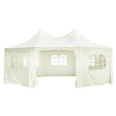 New Outdoor Party Marquee Wedding Tent Canopy Garden Tent Creme Cover Only