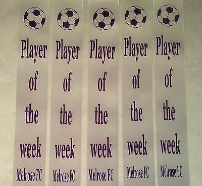 Award Ribbons Soccer Player of the week add your Team,Club or School Name