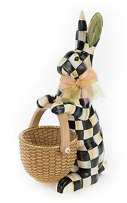 """MacKenzie-Childs Spring/Easter Courtly Check® Rabbit-Made Of Resin-16""""T x 10""""W"""