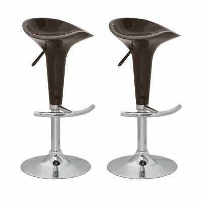 New Set of two bar stools brown bar chairs dining stool bar furniture