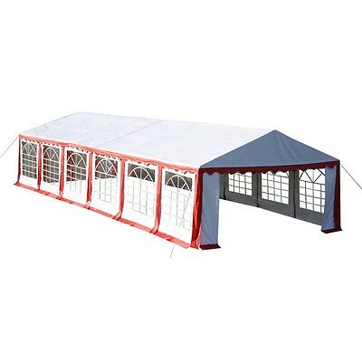 New GREEN GAZEBO PARTY TENT CANOPY MARQUEE RED 6 X 12 M