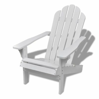 New Wood Chair with Armrest Living Room Garden Patio Indoor Outdoor Chair White