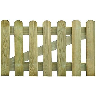 New Wooden Garden Gate 100 x 60 cm Rot-resistant Sturdy Durable Easy Assembly