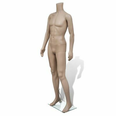 New Mannequin Man Without Head Full Body Male Clothes Display with Glass Base