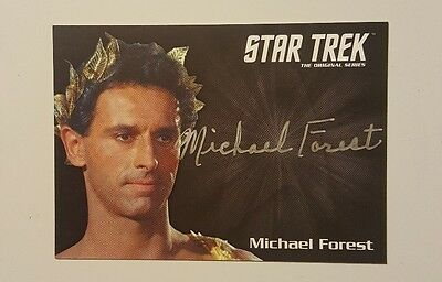 Star Trek TOS 50th Anniversary Trading Card Michael Forest Autographed Card