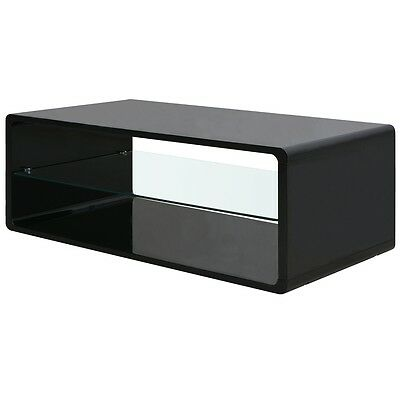 Vase Cocktail Drinks High Gloss Coffee Table End Black Living Room Home Decor