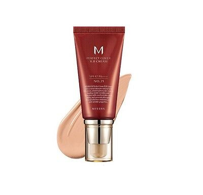 Missha M Perfect Cover BB Cream No21. Light Beige SPF42 PA +++ 50ml