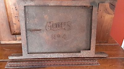Vintage CAST IRON METTERS WOODSTOVE DOOR ( postage also available)