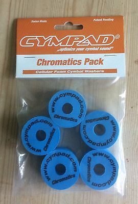 Cympad Chromatic Replacement Cymbal Stand Felts In Blue Pack Of 5
