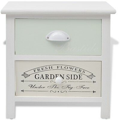 Wood Shabby Chic French Bedside Cabinet Table Night Stand End Storage Chest