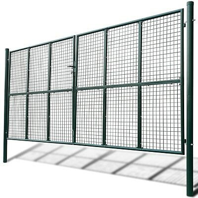 New Mesh Garden Gate 415 x 250 cm / 400 x 200 cm Galvanised Steel Powder-coated