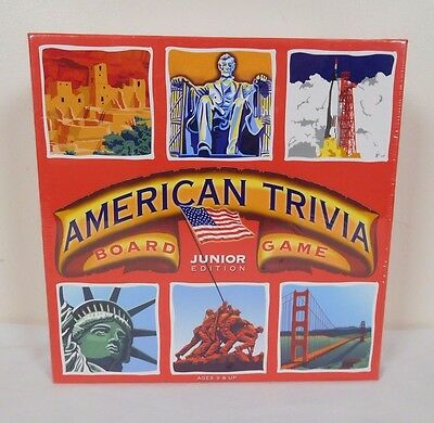 NEW American Trivia Board Game 2010 Family Junior Edition Factory Sealed