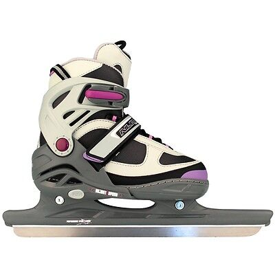Nijdam Girls Kids Speed Ice Skates Boots Shoes Blades Size 31-34 3413-AGP-31-34