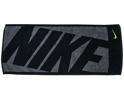 Nike Block Jacquard Towel Sports Golf Football Black Face Swoosh Bath AC9647101