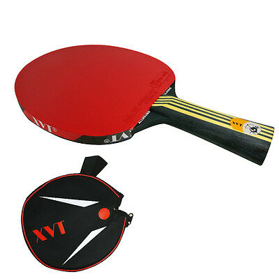 XVT BLACK WOOD With BOLL Table Tennis Racket/ Table Tennis bat Send cover case