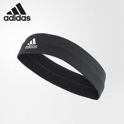 2017 adidas Tennis Hairband Headband Running Sports Yoga Unisex Black NWT S97910