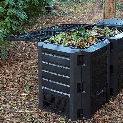 Nature Large Garden Compost Bin Waste Rubbish Box Foldable 2 Open 1200 L 6071483