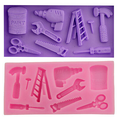 3D Silicone Mold Hammer Opener Mold Fondant Cake Molds Soap Chocolate Mold Craft