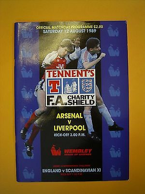FA Charity Shield - Arsenal v Liverpool - 12th August 1989