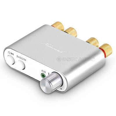 TPA3116 HiFi Bluetooth Power Amplifier Integrated Amp Stereo with USB IN @Silver