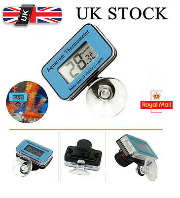 Digital LCD Waterproof Fish Aquarium Water Tank Temperature Thermometer Meter UK