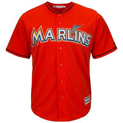 Majestic Miami Marlins Cool Base MLB Trikot Alternate Orange